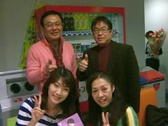 岐阜放送の日置さん、篠田アナウンサー、尾崎さんと