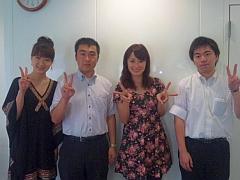 埼玉新聞の土澤さん、前田さん、美貴ちゃんと