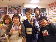 音楽処で、鎌田さん、坂下さん、石川社長、小山さんと